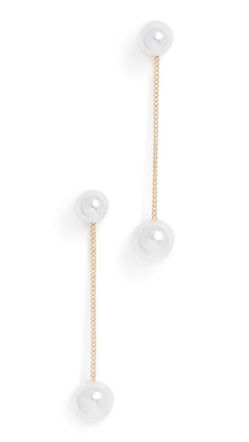 Theia Jewelry Double Imitation Pearl Earrings