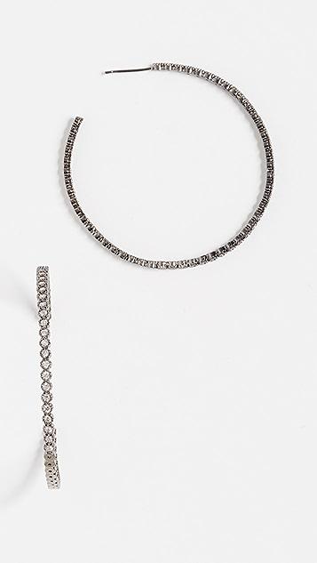 Theia Jewelry Bezel Hoop Large Earrings