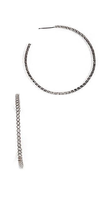 Theia Jewelry Bezel Hoop Large Earrings