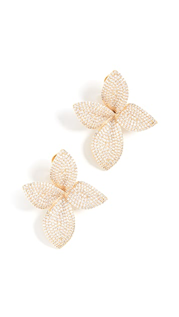 Theia Jewelry Large Plumeria Statement Earrings