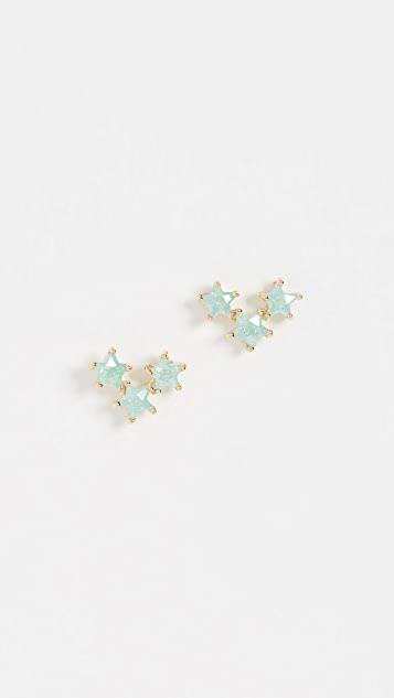 Theia Jewelry Asteria Three Star Stud Earrings