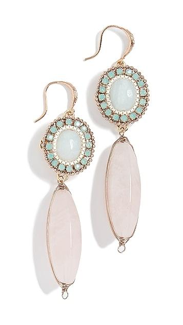 Theia Jewelry Двойные серьги-капли Olympia