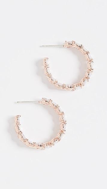Theia Jewelry Haley Oval Cut Hoop