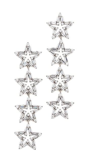 Theia Jewelry Четырехуровневые серьги-капли Astra