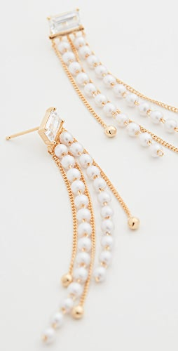 Theia Jewelry - Ella Drop Earrings with Petite Imitation Pearls