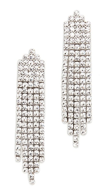 Theia Jewelry Вертикальные серьги-капли Five Line Waterfall с прозрачными фианитами