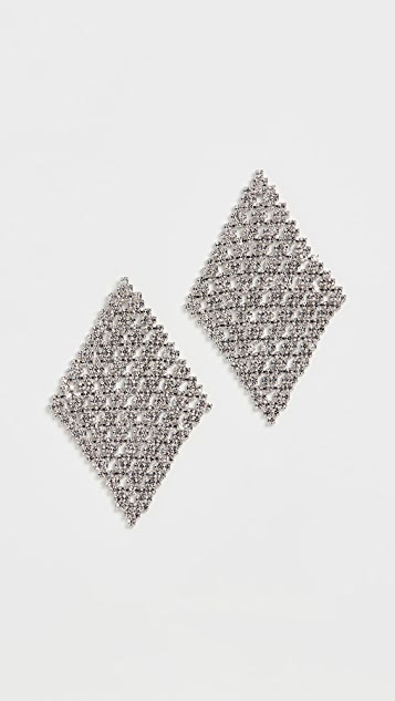 Theia Jewelry Diamond Shape Chandelier Earrings