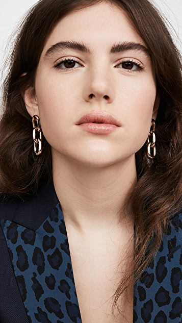 Theia Jewelry Melia Large Rounded Paper Clip Trip Earrings