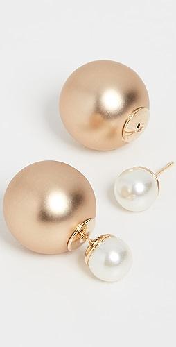 Theia Jewelry - Chloe  Front Back Stud Earrings