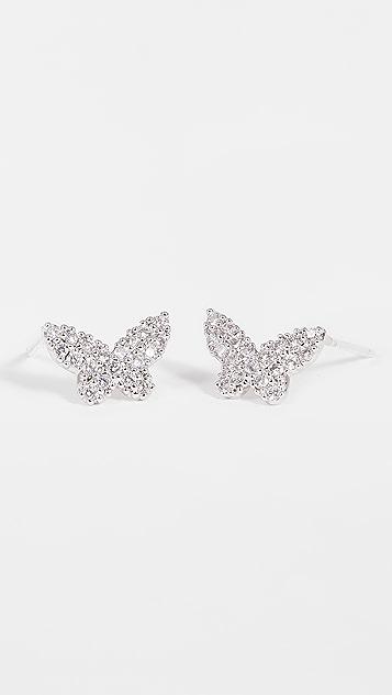 Theia Jewelry Papillion Stud Earrings