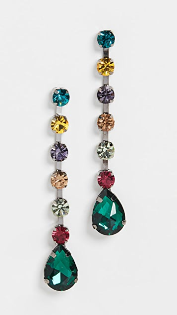 Theia Jewelry Multi Stone Drop Earrings