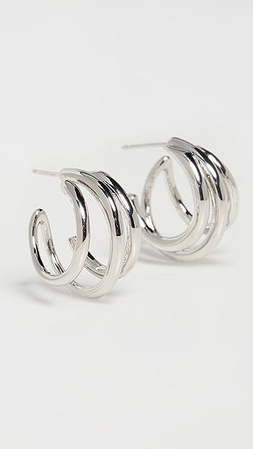 Theia Jewelry Quinn Orbit Half Hoop Earrings