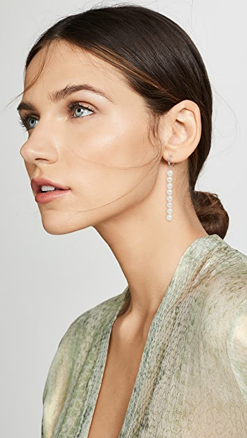 Theia Jewelry Pearl Linear Drop Earrings