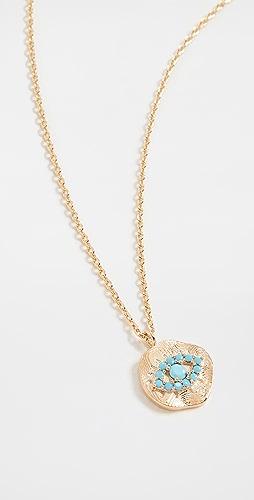 Theia Jewelry - Kari Disc Pendant with Protecting Eye