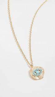 Theia Jewelry Kari Disc Pendant with Protecting Eye