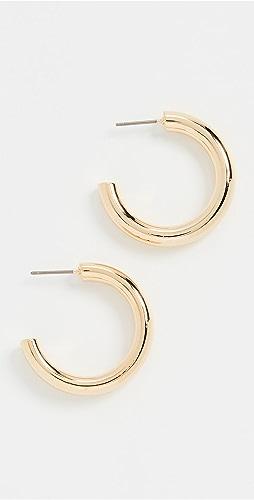 Theia Jewelry - Olivia High Polish Hollow Hoops