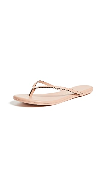 TKEES Studio Scalloped Flip Flops