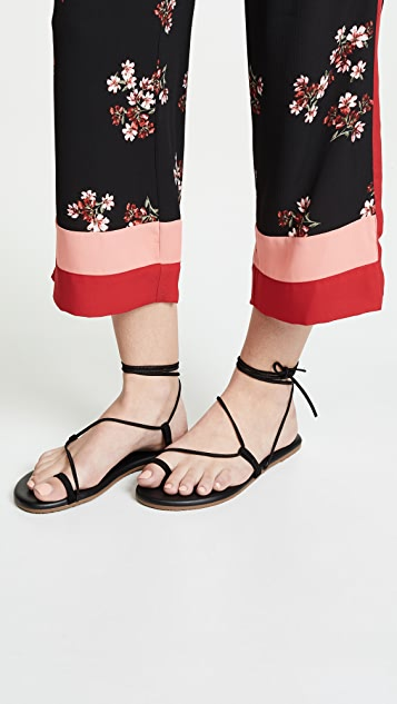 TKEES Jo Lace Up Sandals
