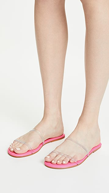 TKEES Gemma Double Strap Vinyl Sandals