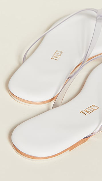 TKEES Lily Clear Flip Flops