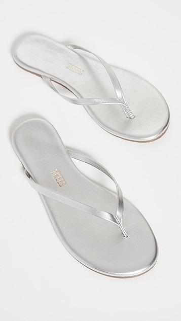 TKEES Metallic Flip Flops