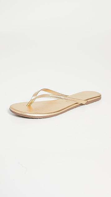 TKEES 金属色夹趾拖鞋
