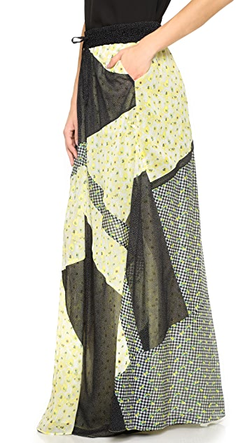 The Kooples Patchwork Print Skirt