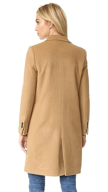 The Kooples Straight Twill Coat