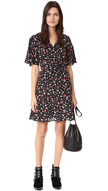 The Kooples Mixed Print Silk Dress