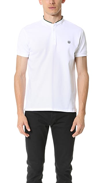 The Kooples Sport Grosgrain Officer Collar Polo