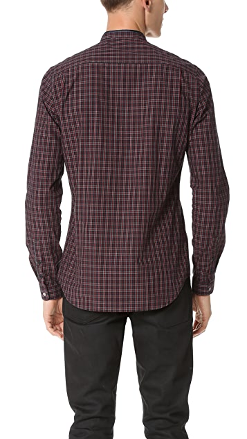 The Kooples Sport Officer Collar Check Shirt