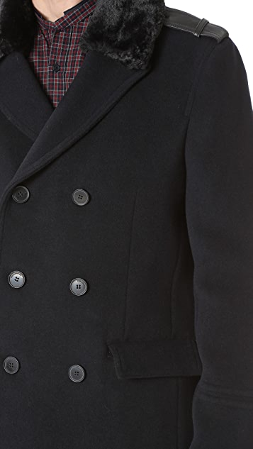 The Kooples Double Breasted Coat