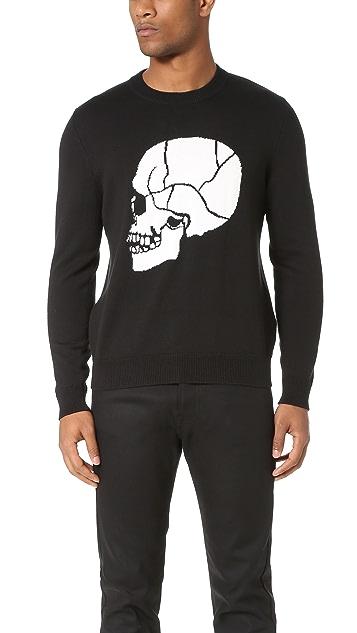 The Kooples Skull Jacquard Sweater