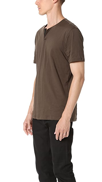 The Kooples Leather Tab Tee