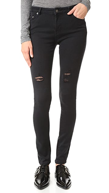 The Kooples Skinny Ripped Jeans