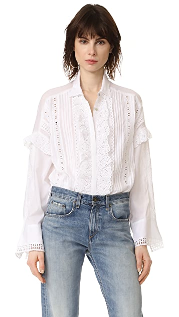 The Kooples Ruffle Front Blouse Shopbop