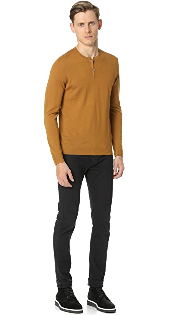 The Kooples Merino Long Sleeve Henley