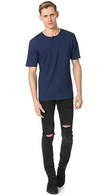 The Kooples Pique Short Sleeve Henley