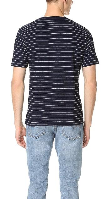 The Kooples Indigo Striped Short Sleeve Tee