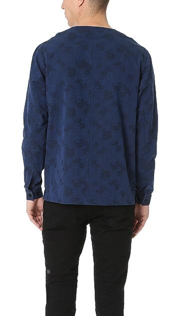 The Kooples Indigo Floral Shirt Jacket