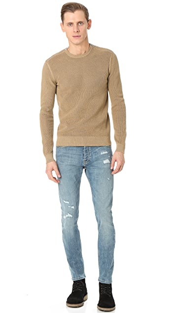 The Kooples Cotton Sweater with Shoulder Zip