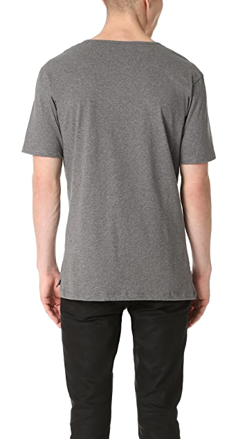 The Kooples Leather Detail Tee