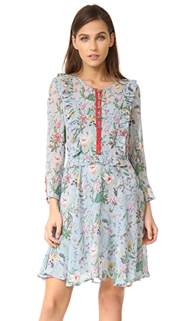 The Kooples Floral Ruffle Dress