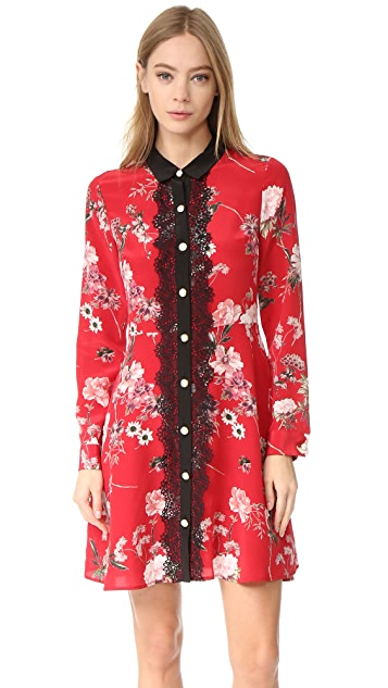 The Kooples Lace Front Floral Collar Dress