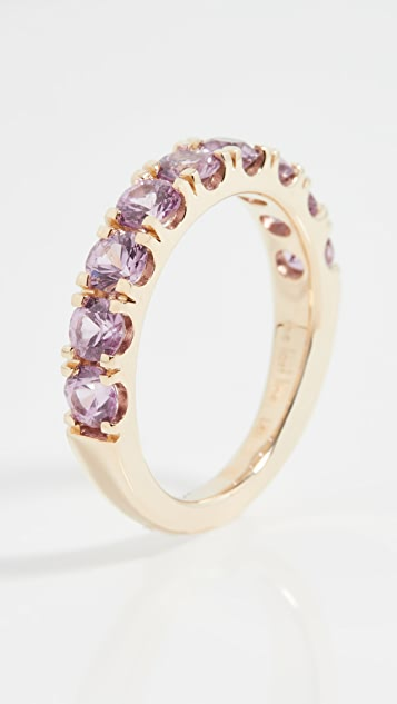 The Last Line Yellow Gold and Pink Sapphire Classic Ring