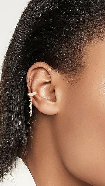 The Last Line 14k Yellow Gold Ear Cuff with Diamond Bezel