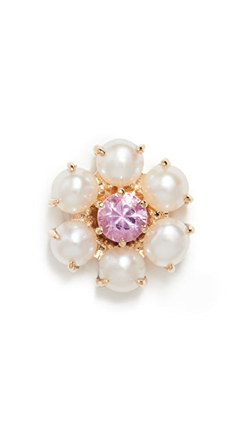 The Last Line Fresh Water Pearl and Pink Sapphire Center