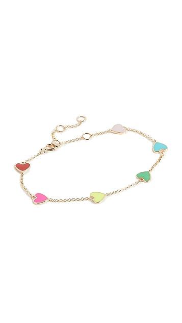 The Last Line Enamel Heart Bracelet