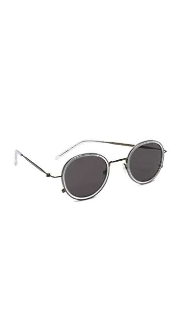 604be754b Tomas Maier Eye Rim Round Sunglasses | SHOPBOP
