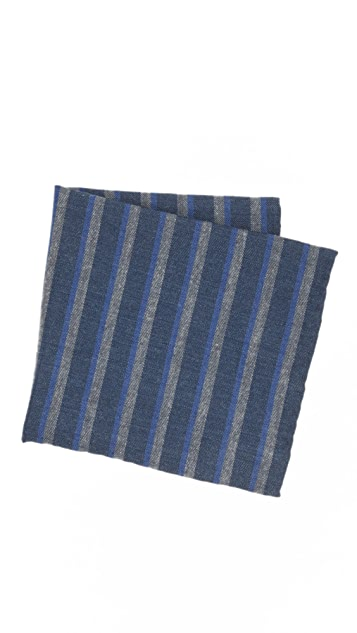 Thomas Mason Stripe Pocket Square